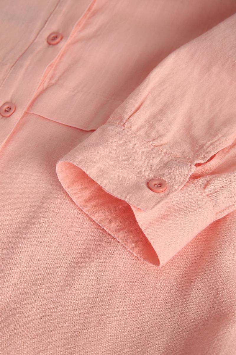 Keten Kuşaklı Gömlek Tunik