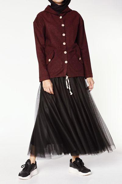 Kısa Kaşe Düğmeli Ceket
