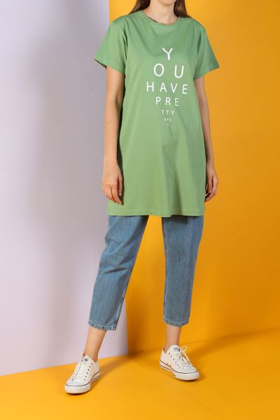 Kısa Kol Baskılı T-Shirt