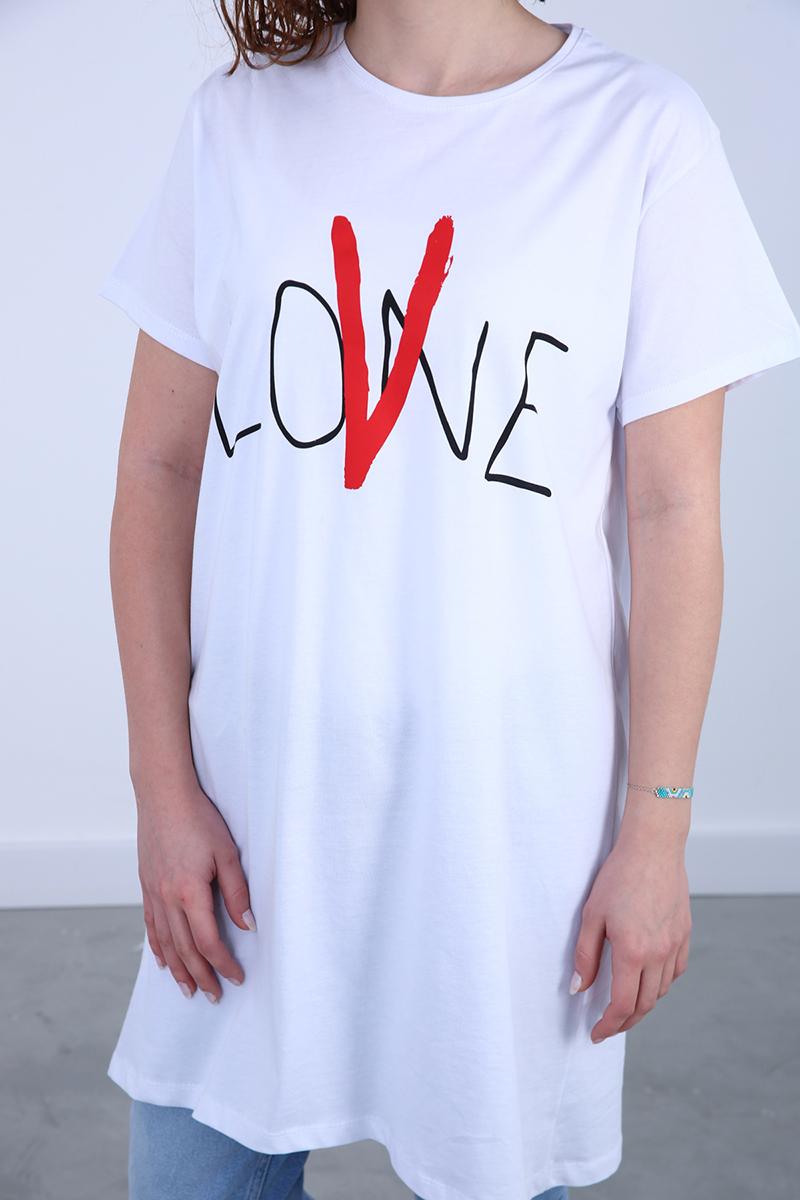 Kısa Kollu Baskılı T-Shirt