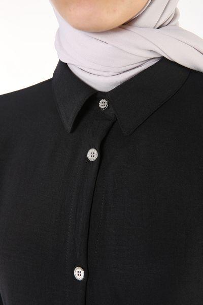 Kol Detaylı Gömlek Tunik