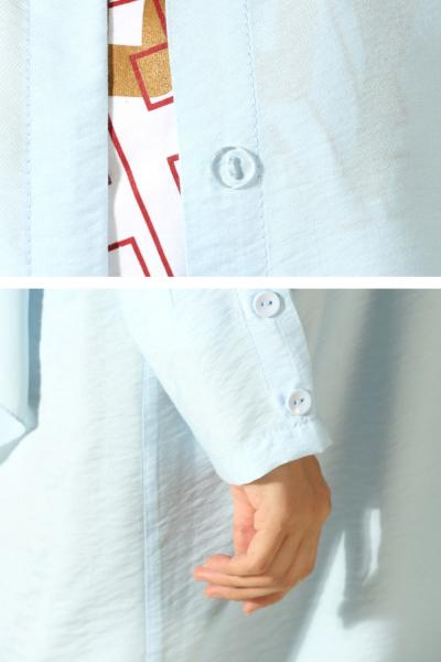 Kolu Düğme Detaylı Gömlek Tunik