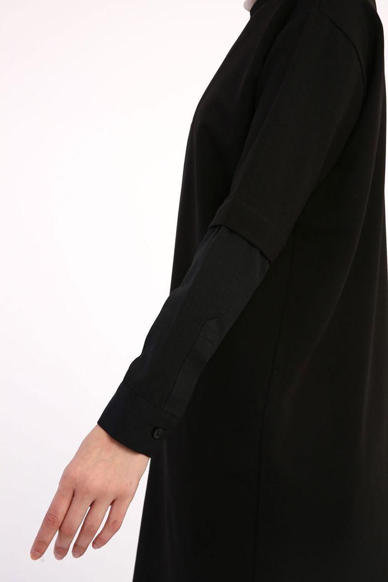Kolu Gömlek Detaylı Garnili Tunik
