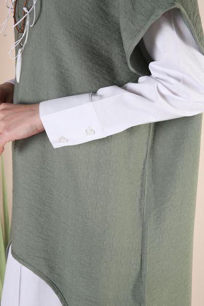 Kolyeli Gömlek Tunik İkili Takım