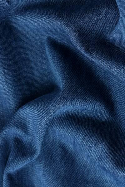 Kapüşonlu Püskül Detaylı Kot Tunik