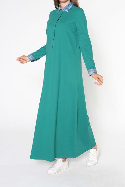 Kot Yakalı Elbise
