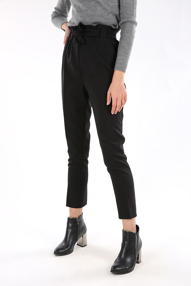 Kuşaklı Yüksek Bel Pantolon