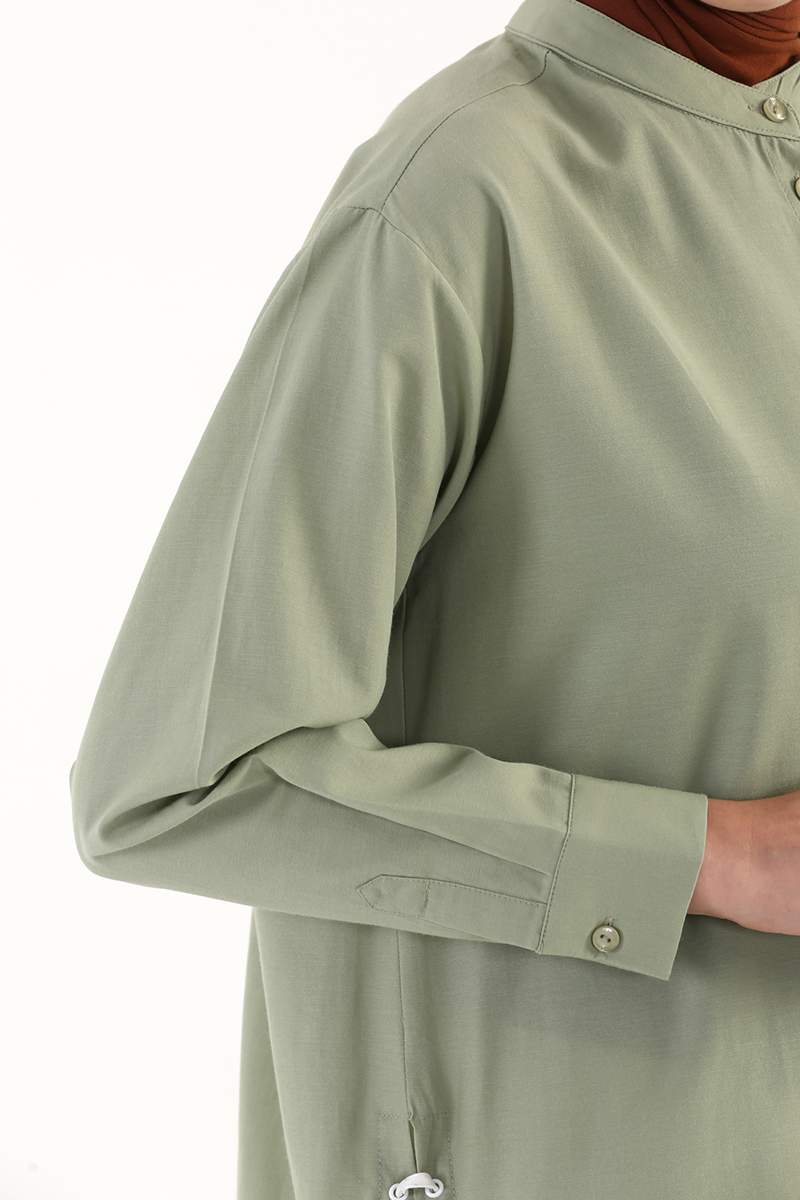 Kuşgözü Detaylı Gömlek Tunik
