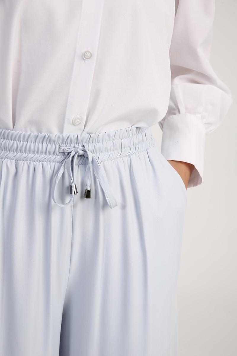 Lastikli Bol Paça Pantolon