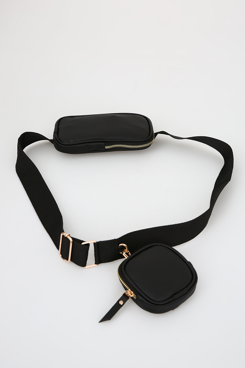 Mini Cüzdanlı Çapraz Çanta
