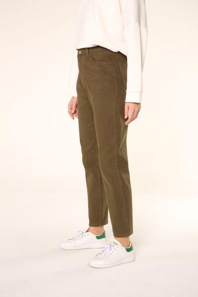 Doğal Kumaş Mom Pantolon