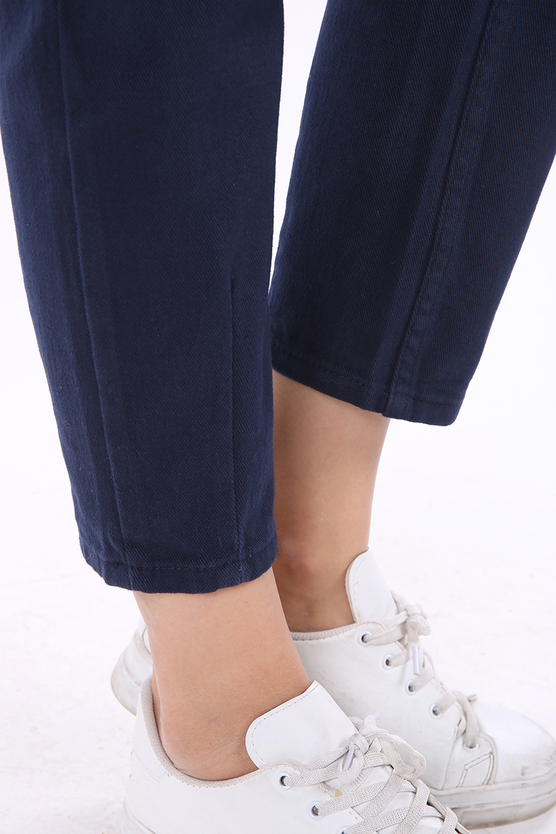 Mom Pileli Pamuk Pantolon