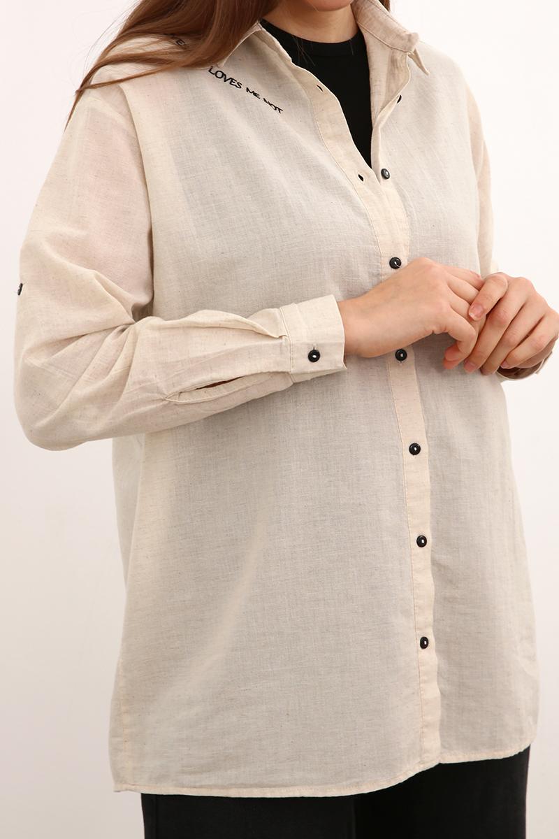 Nakışlı Salaş Gömlek