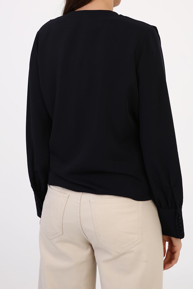 Omuz Büzgü Detaylı Bluz