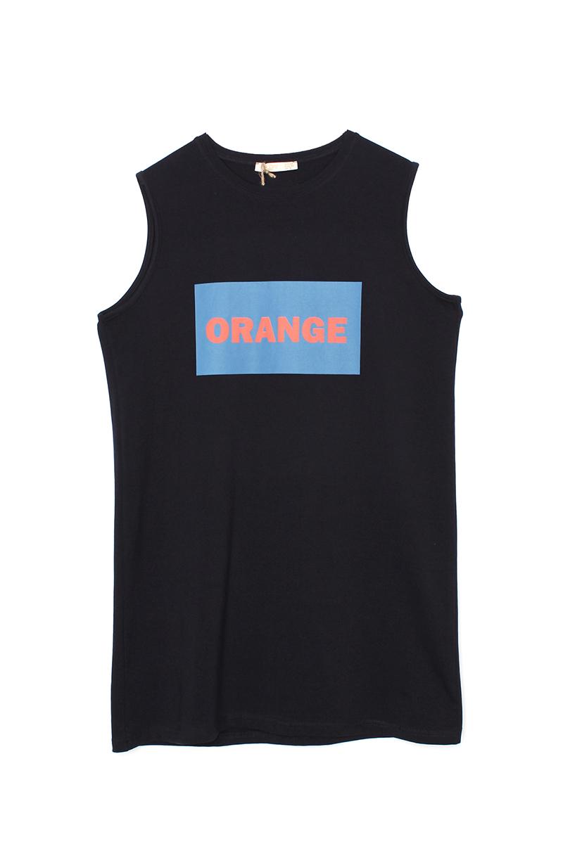 Orange Baskılı T-Shirt Tunik
