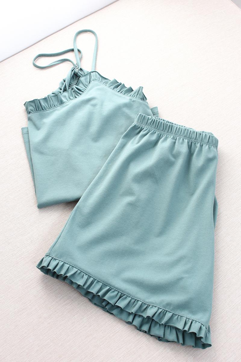 Örme Şortlu Pijama Takımı