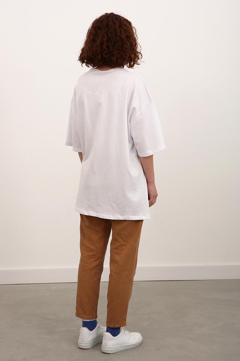 Pamuklu Baskılı Kısa Kol T-Shirt