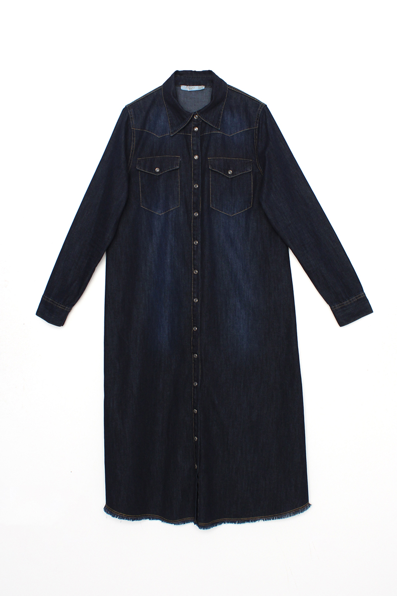 Denim Uzun Gömlek Tunik