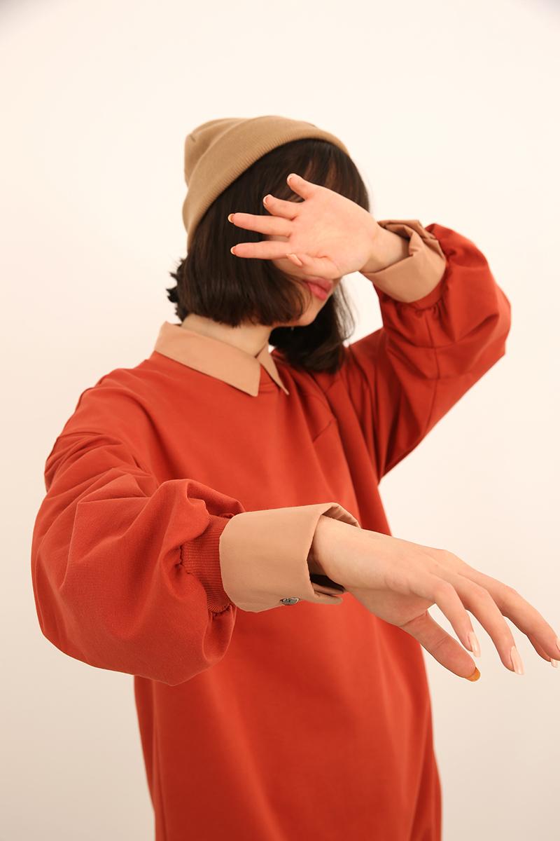 Pamuklu Salaş Oversize Sweatshirt