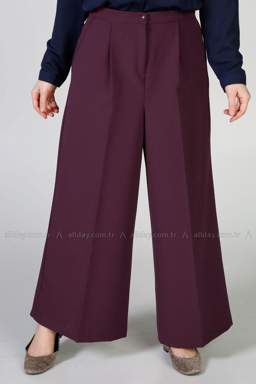 Bol Paça Pileli Pantolon