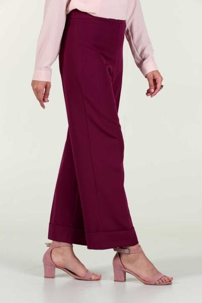 Gizli Fermuarlı Klasik Pantolon