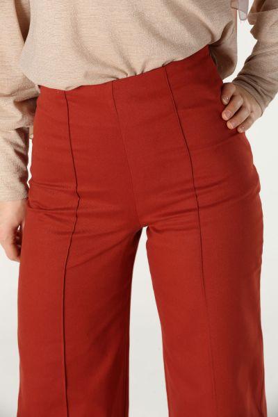 Pamuklu Bol Paça Pantolon