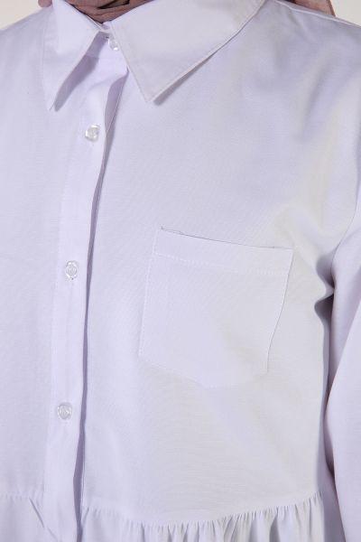Patlı Cepli Kloş Gömlek Tunik
