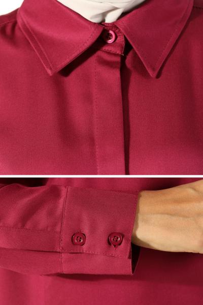 Viskon Patlı Uzun Gömlek Tunik