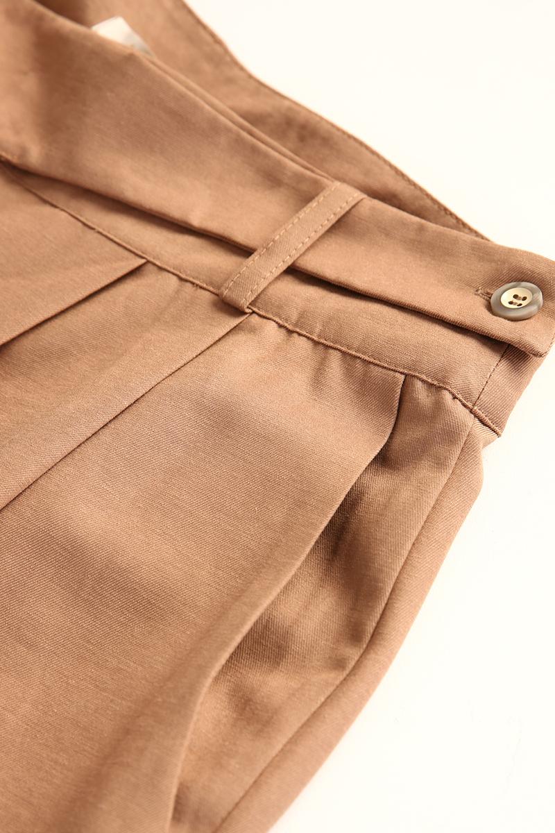 Bel Detaylı Pileli Havuç Pantolon