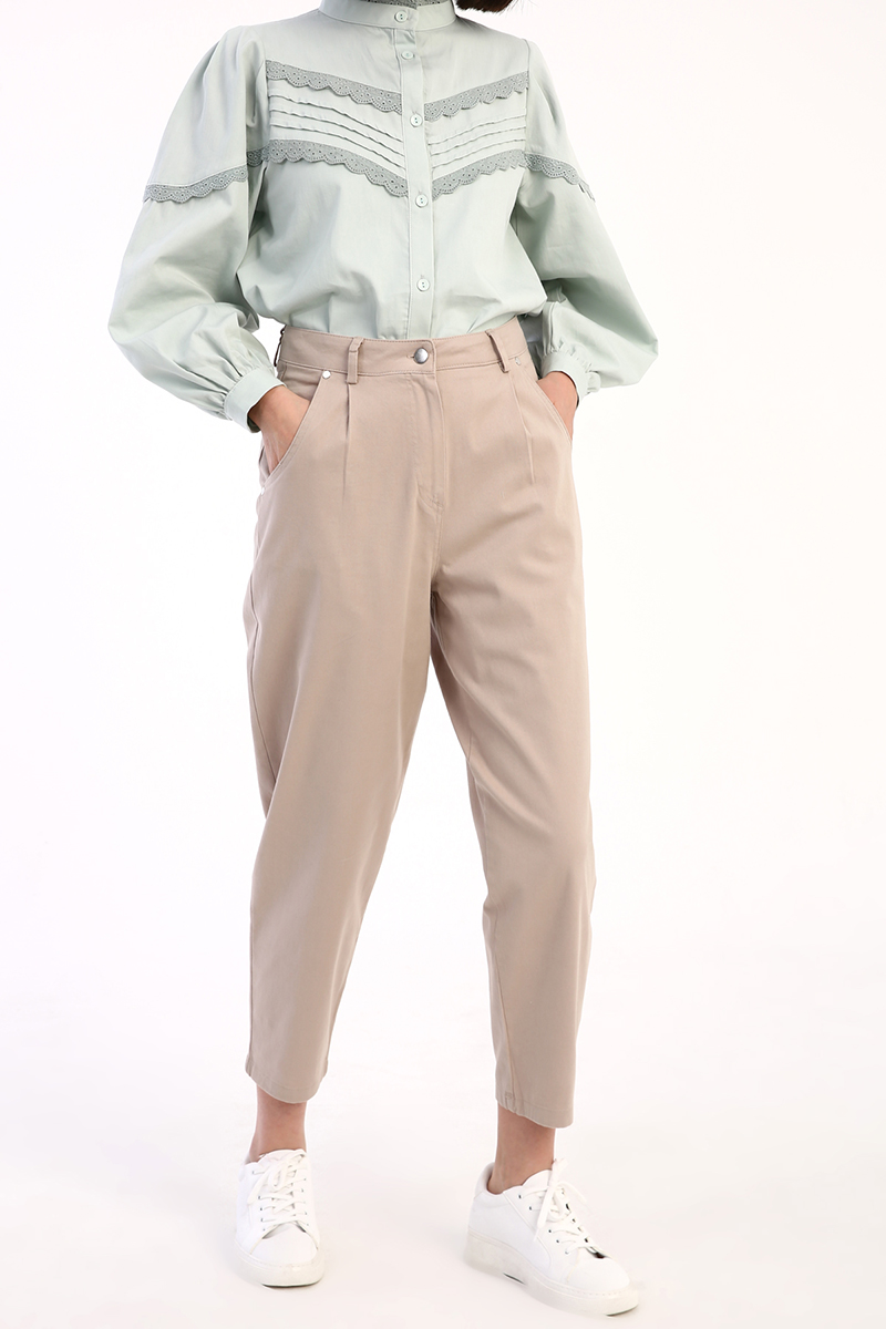 Pileli Mom Pantolon