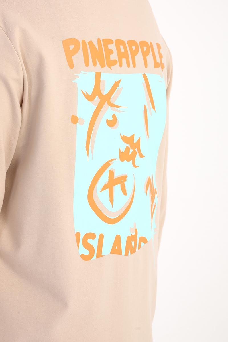 Comfy Pineapple Baskılı Uzun Kollu T-Shirt Tunik