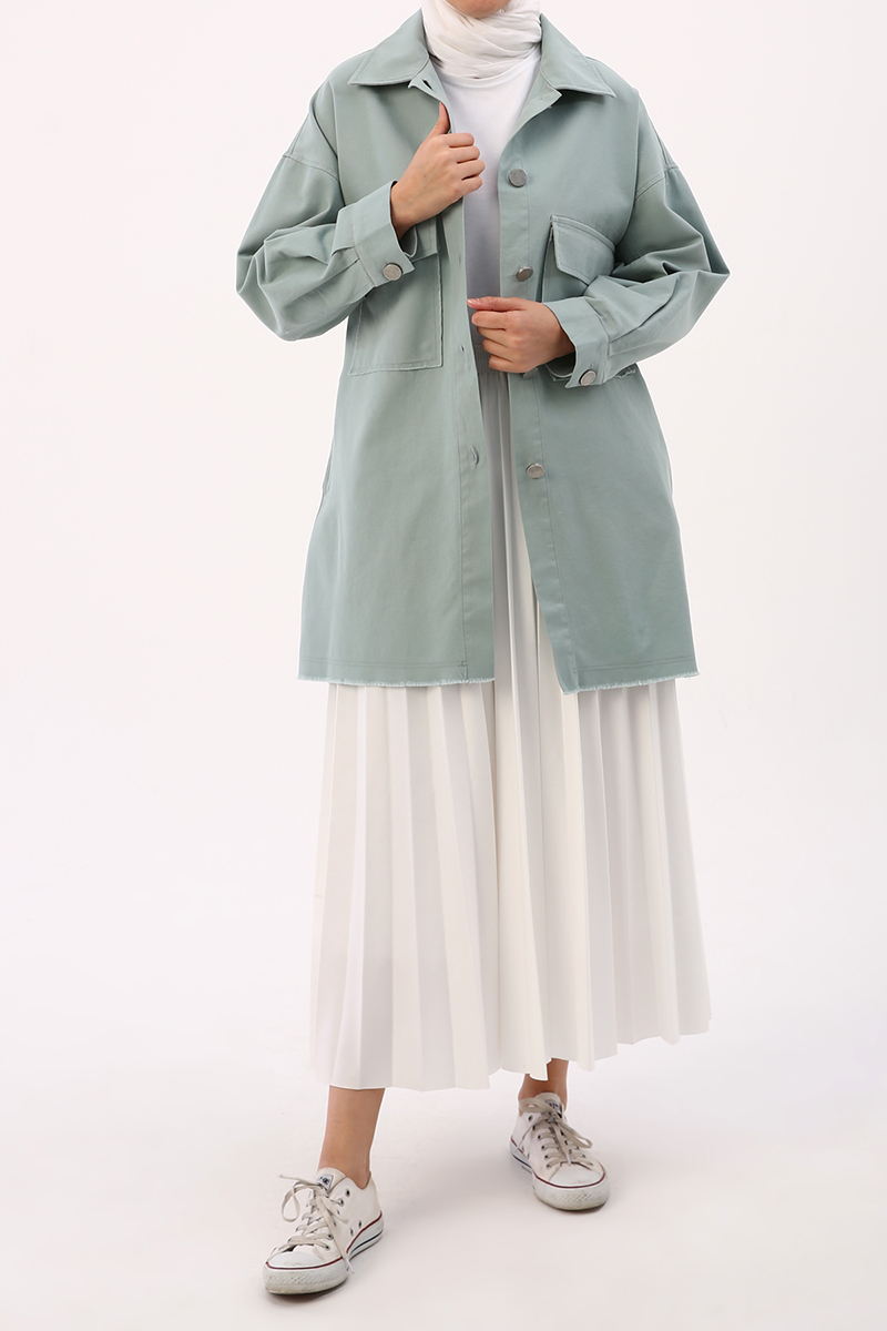 Ps Dikişli Oversize Ceket
