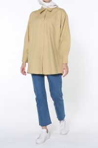 Basic Rahat Kalıp Cepli Gömlek