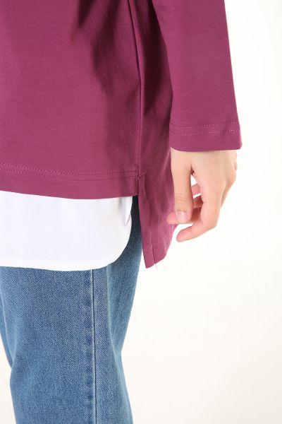 Rahat Kalıp Gömlek Garnili Sweatshirt