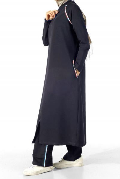 Şeritli Uzun Eşofman Takımı