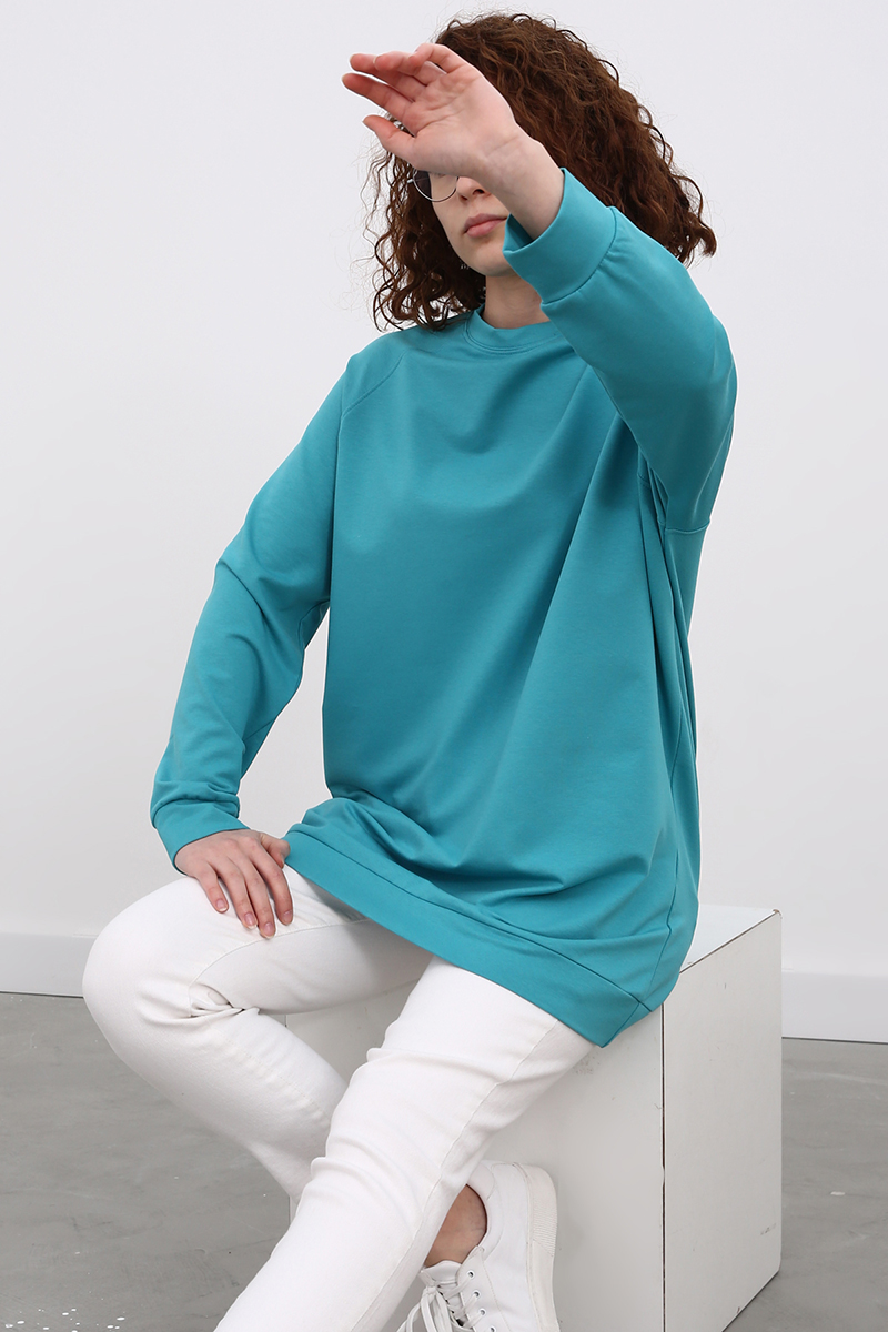 Reglan Kol Basic Sweat Tunik