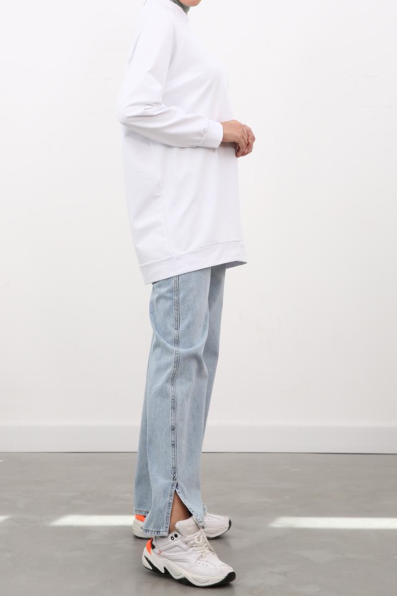 Reglan Kol Basic Sweat Tunik