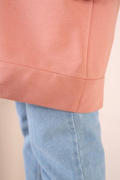Renkli Garnili Biyeli Sweat Tunik