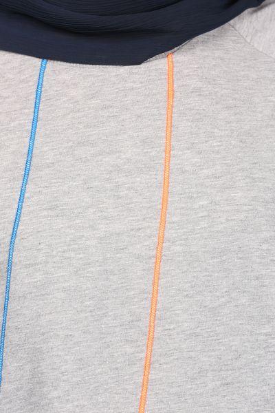 Renkli Garnili Sweat Tunik