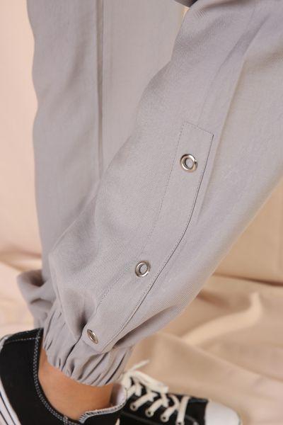 Tensel Kapüşonlu Pantolonlu İkili Takım