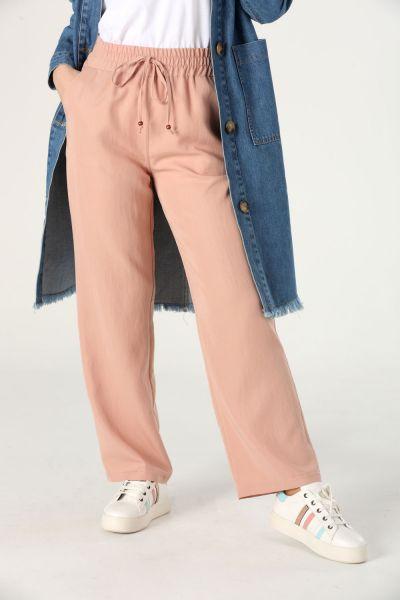 Tensel Bel Lastikli Pantolon