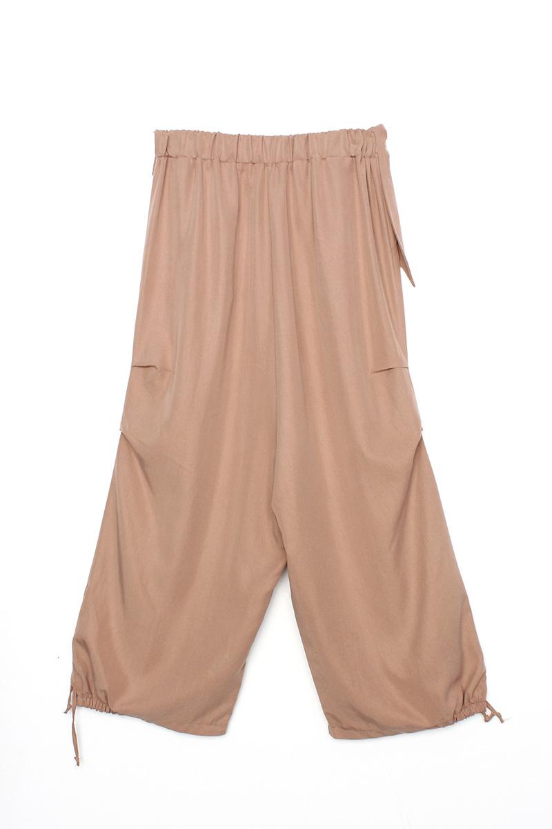 Tensel Bel Lastikli Şalvar Pantolon