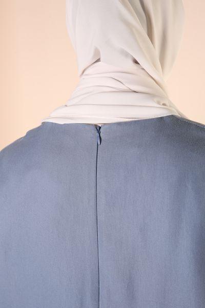 Tensel Tek Cepli Önü Kısa Arkası Uzun Tunik