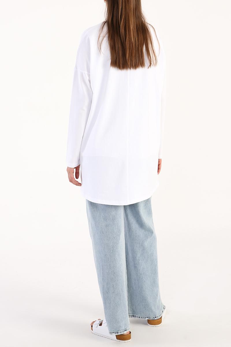 Transition Baskılı Uzun Kollu T-Shirt Tunik