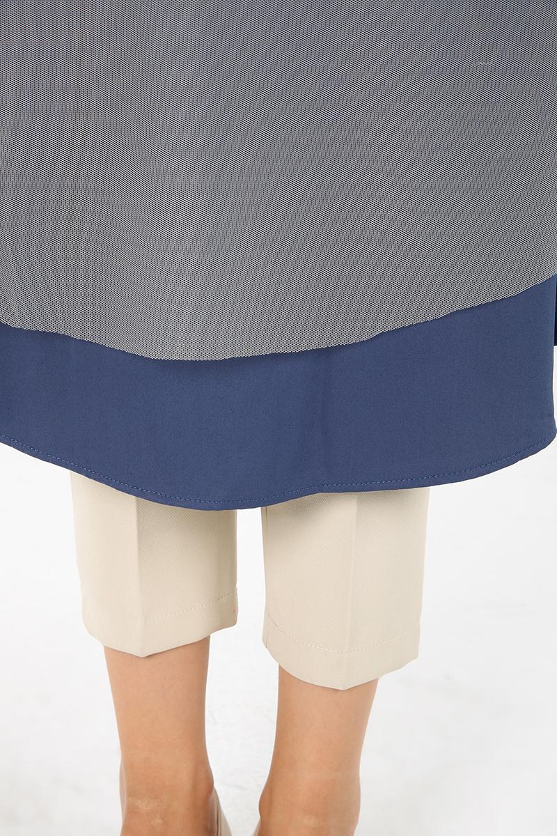 Tül Garnili Uzun Tunik