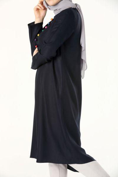 Viskon Uzun Yazlık Tunik