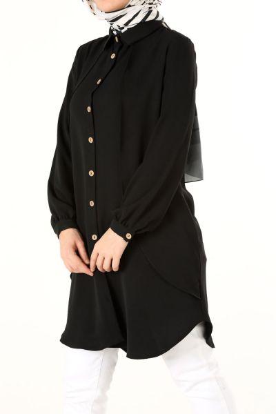 Fırfır Detay Gömlek Tunik