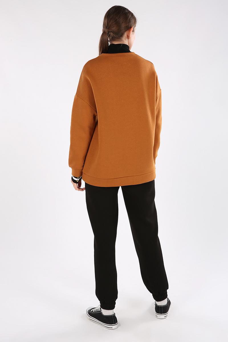 Üç İplik Şardonlu Sweatshirt