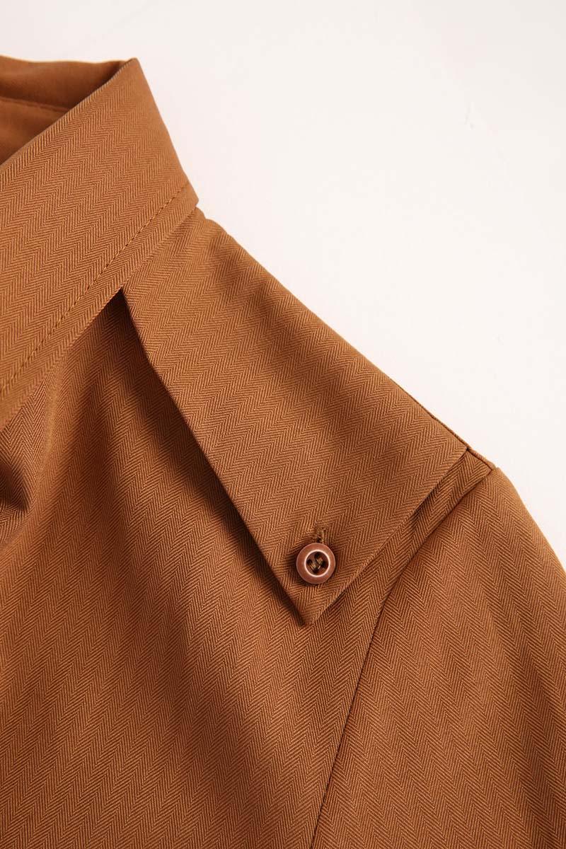 Kalın Apoletli Uzun Gömlek Tunik