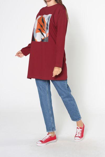 Baskılı Uzun Kol Tunik